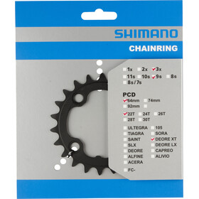 Shimano FC-M760 Chain Ring 9-delad black